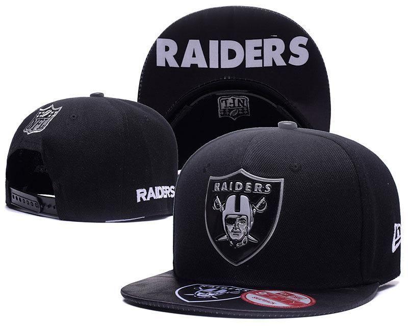 Men s Oakland Raiders 2017 NFL Draft Spotlight Liquid Chrome Team Logo  Snapback Hat - Black   Grey 0e41ac470d8