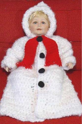 Snowman Baby Bunting Crochet Pattern