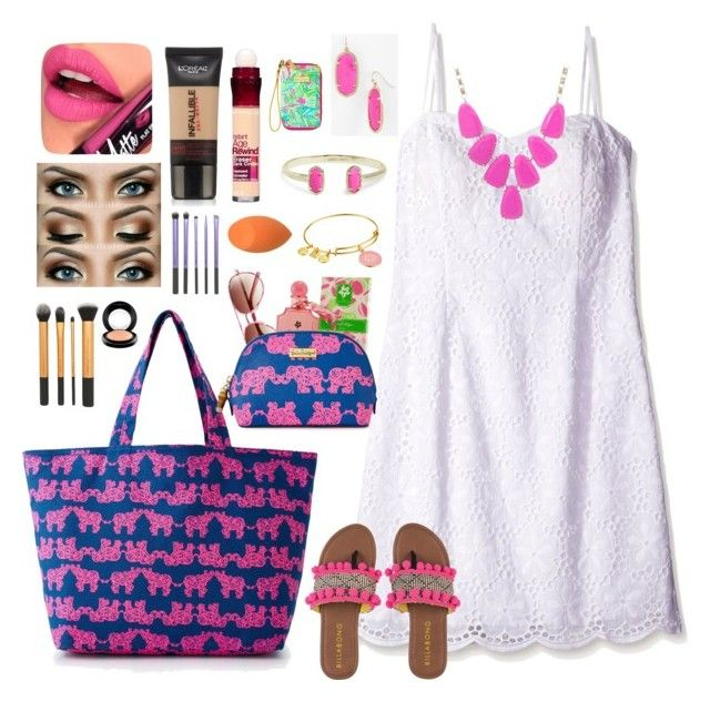 """♡Thanks For 400!!♡"" by preppy-southern-girl88 ❤ liked on Polyvore featuring Lilly Pulitzer, Kendra Scott, Billabong, Fiebiger, L'Oréal Paris, Maybelline, MAC Cosmetics and Alex and Ani"