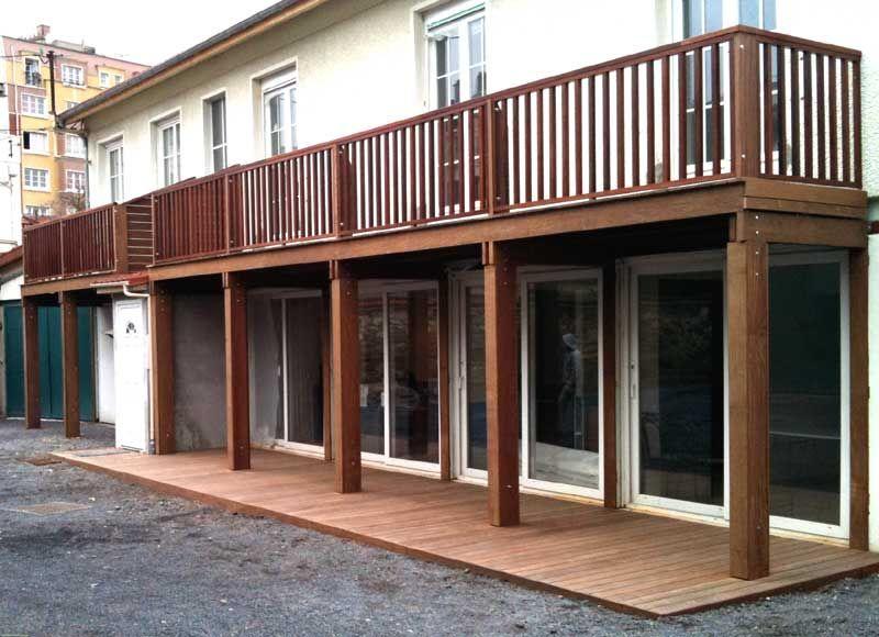 balcon bois suspendu top artecbois terrasses en bois en hauteur terrasses en bois suspendues. Black Bedroom Furniture Sets. Home Design Ideas