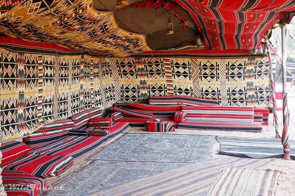 A bedouin camp. Photo courtesy Nellie Huang.