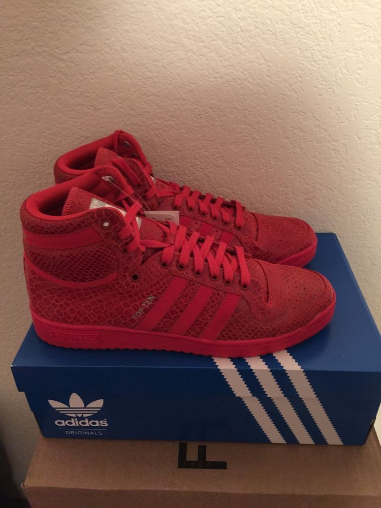 Adidas originale top ten - pelle di serpente ottobre rosso yeezy kanye