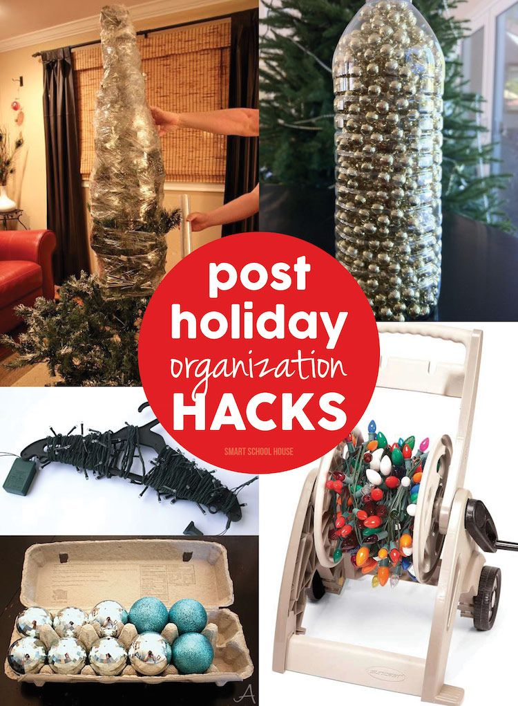 Post Holiday Organization Hacks! Lots of tips and tricks to help you