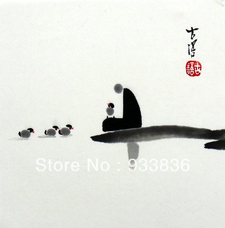 Chinese Small Zen Painting Quot Original Brush Ink Asian Chan