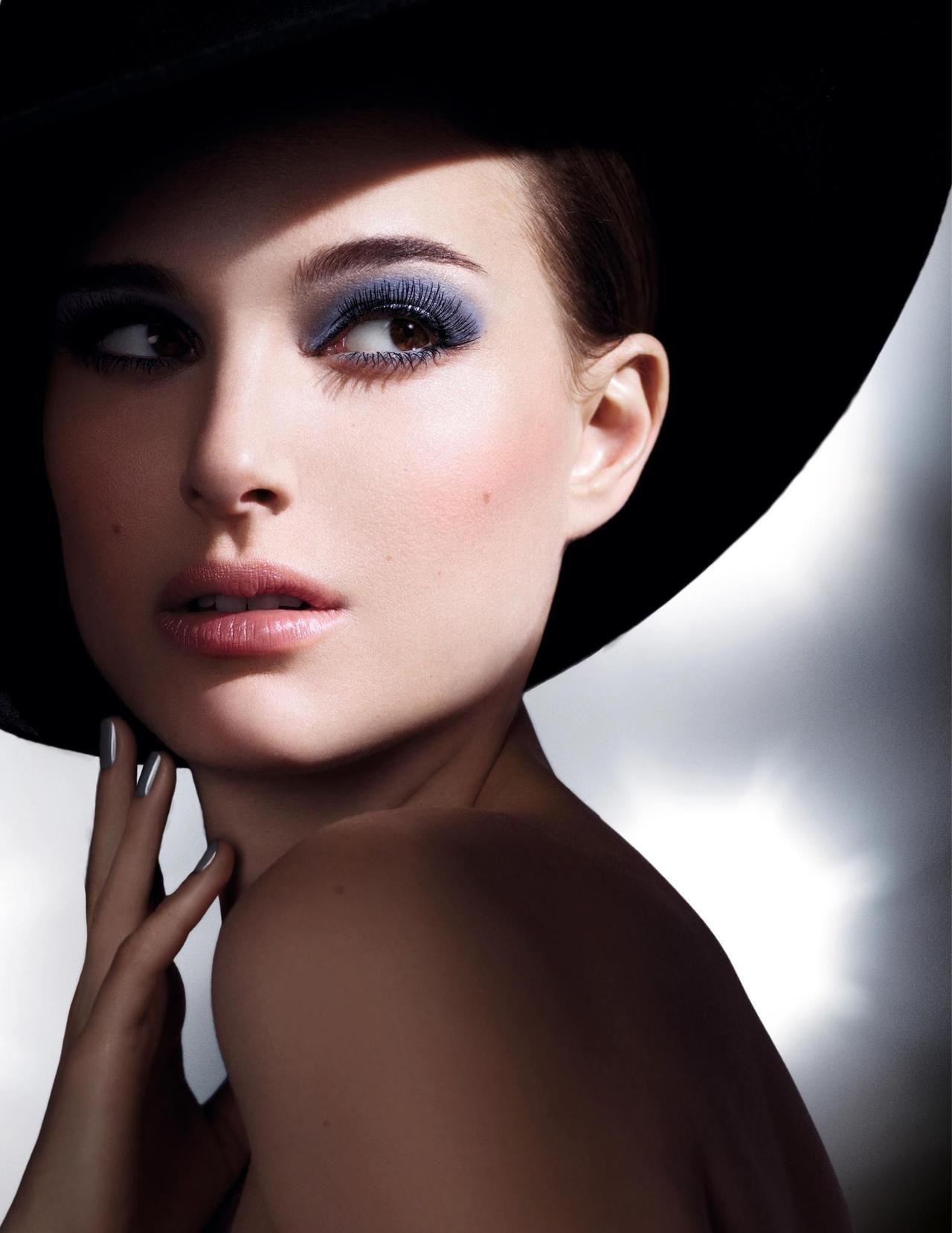 natalie portman — dior mascara | dior, eyeshadow and campaign