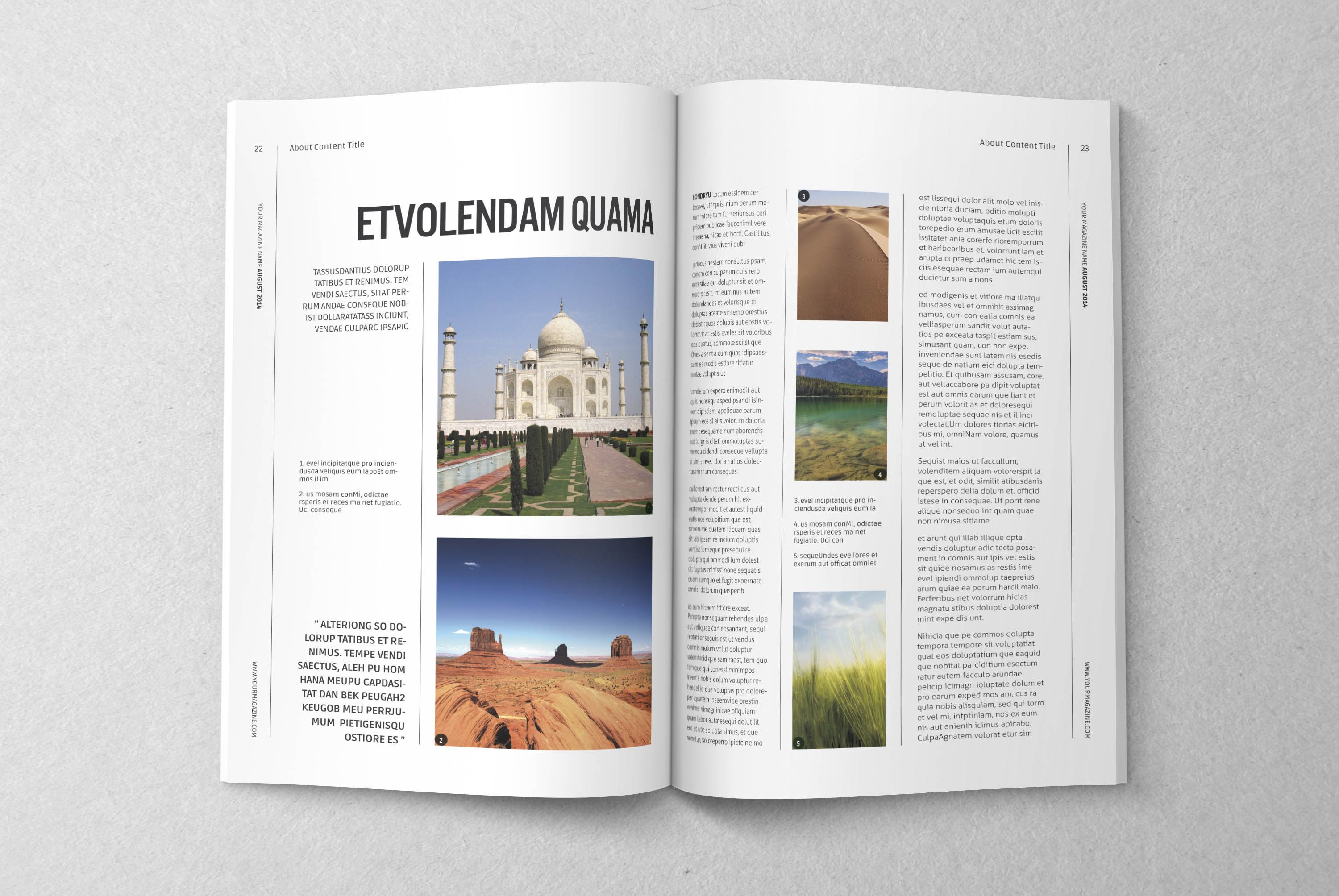 A5 Magz Editorial Book Tmplt 05 Indesign Magazine Templates Magazine Template Photoshop Photography