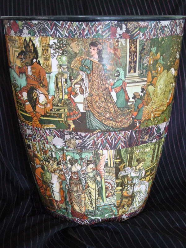 Image result for Decoupage trash can