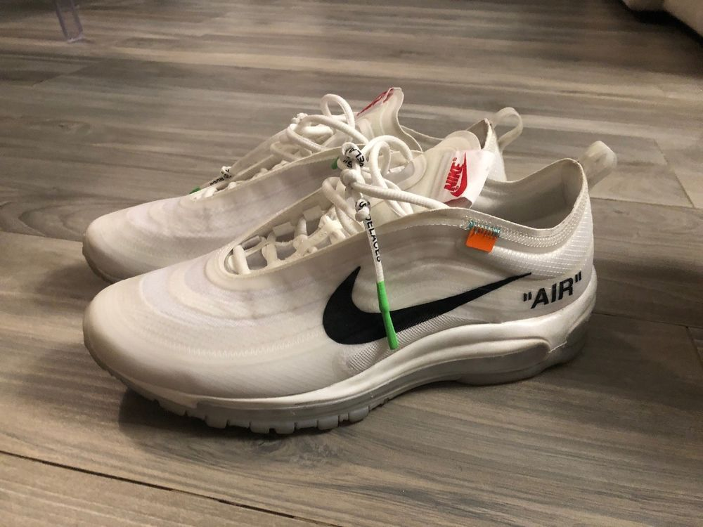 sports shoes a2fbd 48bd4 off-white x nike air max 97 Size 10  fashion  clothing  shoes