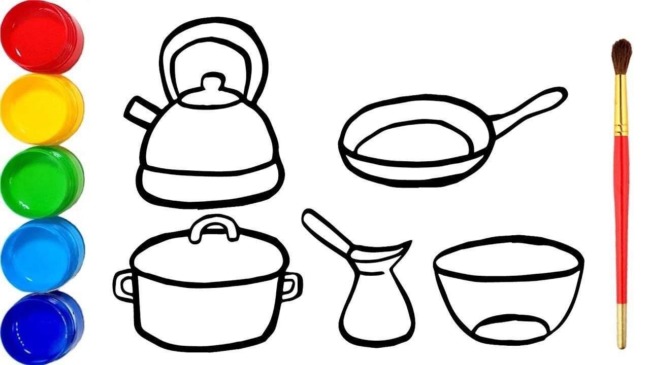 41+ Cooking tools coloring pages ideas