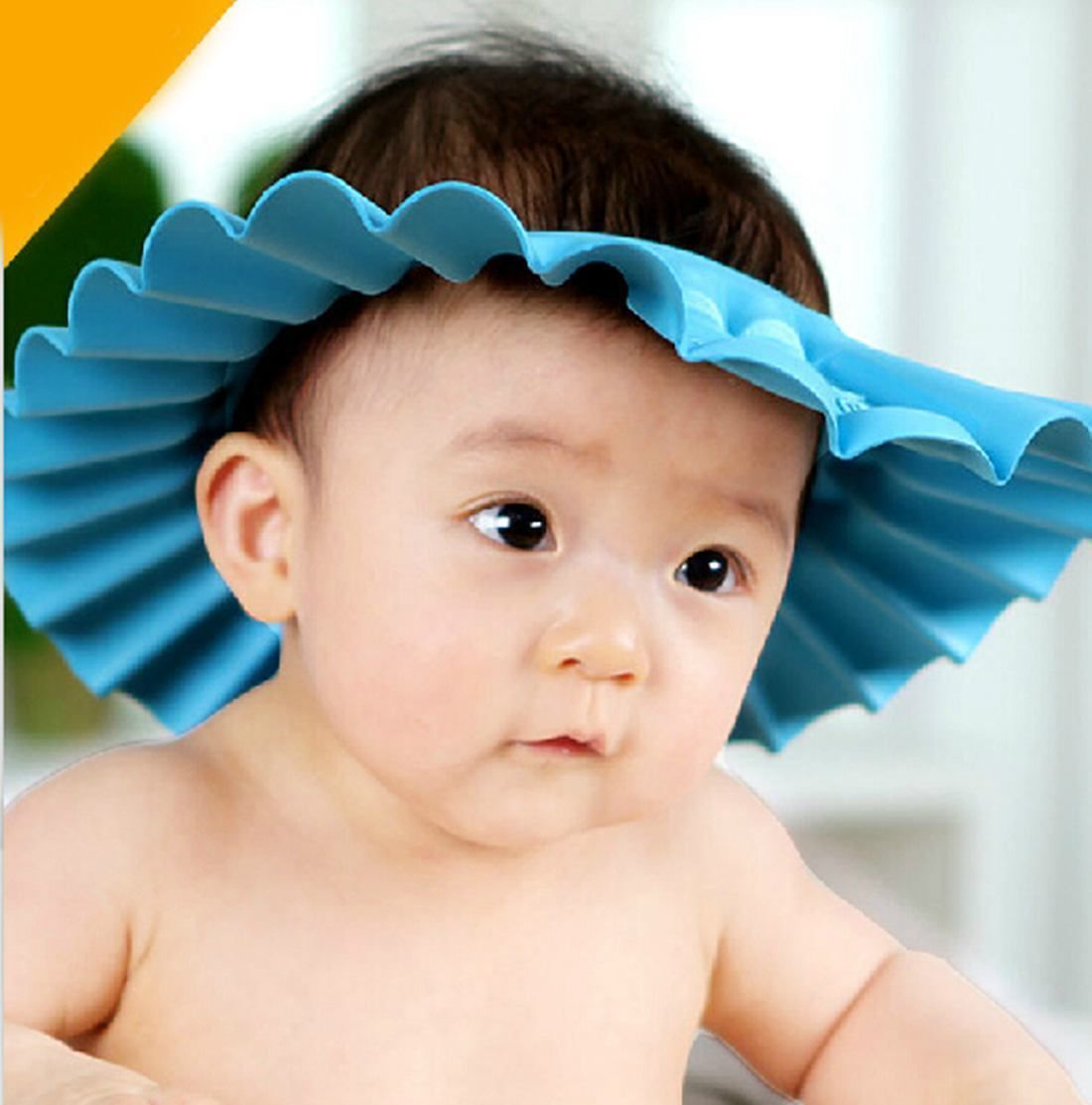 Soft Kids Toddler Baby Bath Hat Shower Shampoo Visor Hats Wash Hair Shield  Cap d986a0bb8903