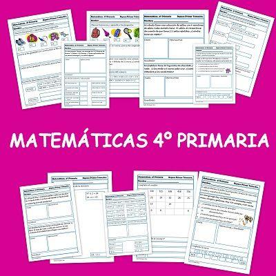 Matemáticas. Fichas para cuarto de primaria | mates | Pinterest ...
