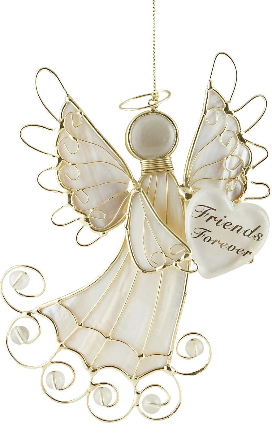 Share this lovely Christmas angel ornament with someone special ...