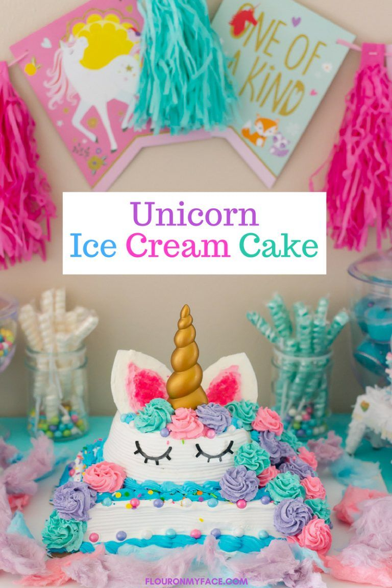 Fabulous Unicorn Ice Cream Cake Recipe Unicorn Ice Cream Cream Cake Funny Birthday Cards Online Necthendildamsfinfo