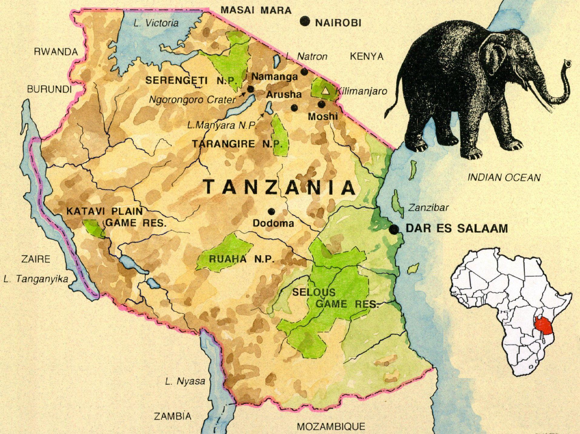 Lg Tanzania Map Jpg Tanzania Map Africa Map