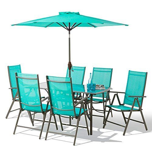 The 8 Piece Santorini Garden Patio Furniture Set Made From 100% Aluminium  With A Beautiful Bronze Finish Making It Rust Free! GREAT PRICE