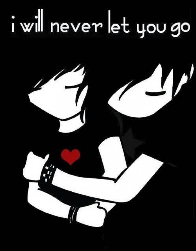 Wont let u go | Emo love quotes, Emo love, Emo cartoons