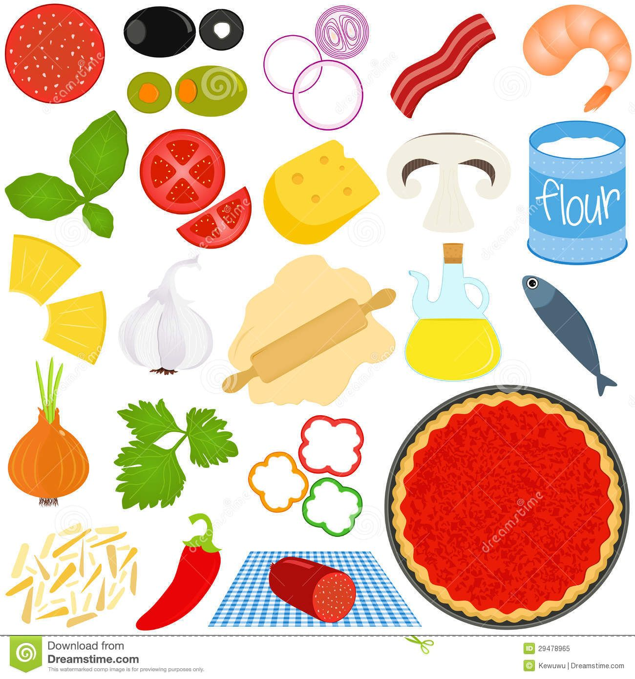 Pizza Toppings Clipart Ingre Nts To Make Pizza With