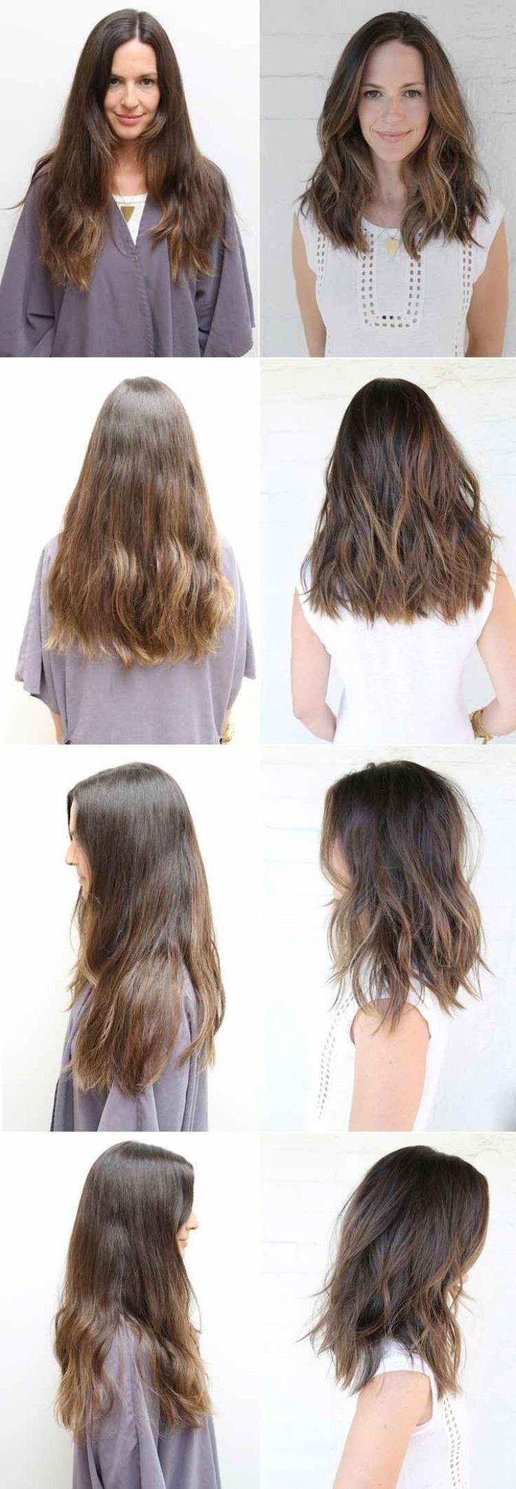 Stark Gestufte Lange Haare Glatt A Linie Frisuren Frisuren