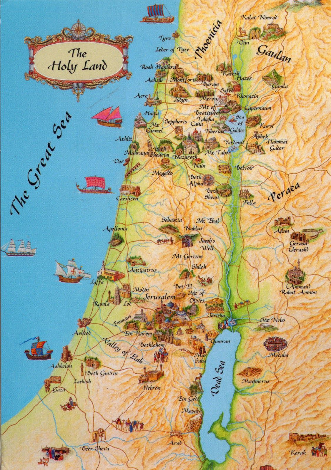 Map of Biblical Israel  WORLD COME TO MY HOME 0315 ISRAEL