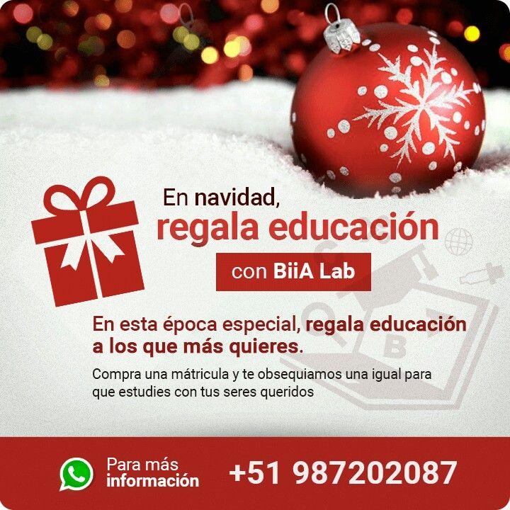 En navidad regala educación !! Www.biialab.org