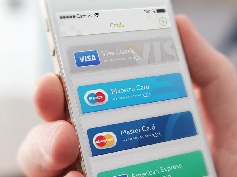 credit cards on wallet ui inspiration mobile ui design app ui design user - Visa Credit Card App