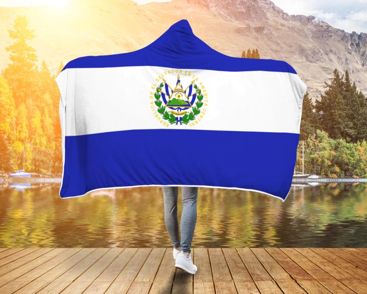 Cobija Con Capucha Y Diseno Impreso Personalizado Bandera De El Salvad Sivar Estilo El Salvador Flag Cheer Skirts San Salvador