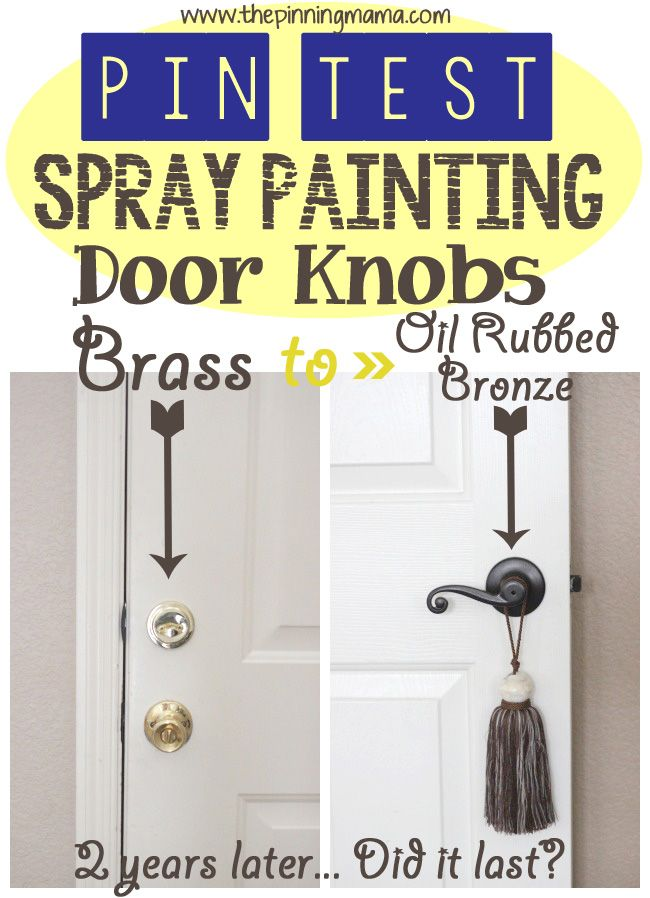 Spray painting brass door knobs did it last after 2 years - Interior door spray painting service ...