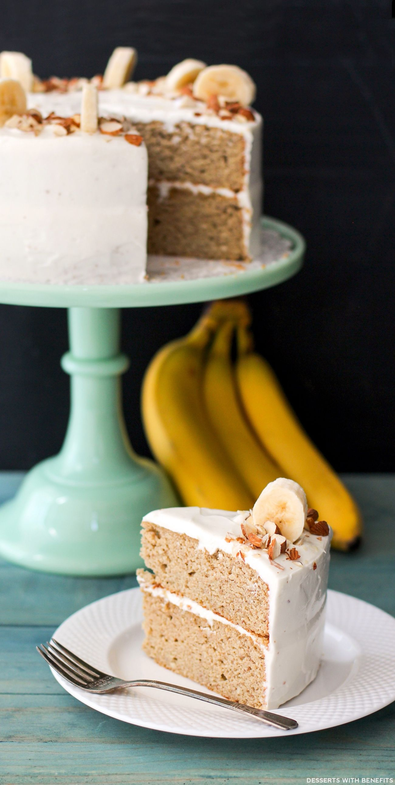 Healthy Banana Cake with Cream Cheese Frosting Recipe