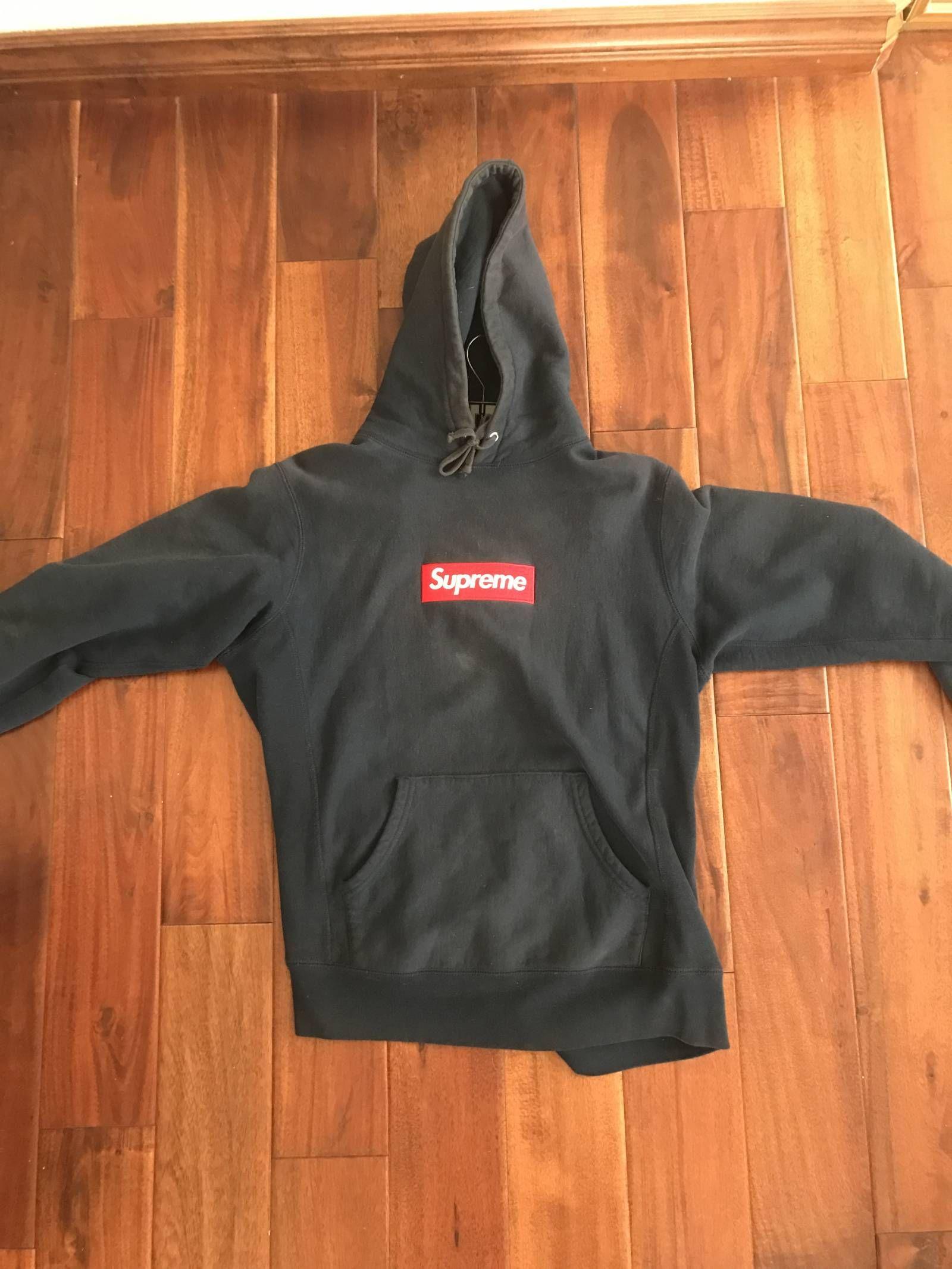 Supreme Navy Box Logo Hoodie Hoodies Box Logo Hoodie Athletic Jacket [ 2133 x 1600 Pixel ]
