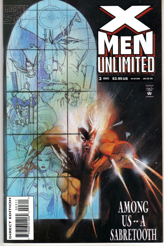 X Men Unlimited Vol 1 3 Sabretooth X Men Jim Lee Art Best Comic Books