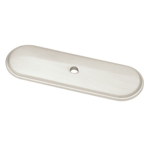 Liberty Hardware P30046C-E2 3 Inch Raised Oval Back Plate for Knobs Satin Nickel Cabinet Hardware Backplates Knob