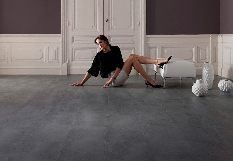 home plus fix - concrete dark: vinyl-klick fliesen (595