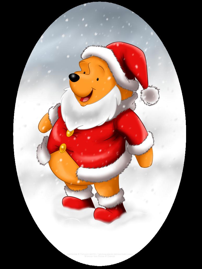 winnie the santa by selinmarsou walt disney christmas winnie the pooh - Pooh Christmas