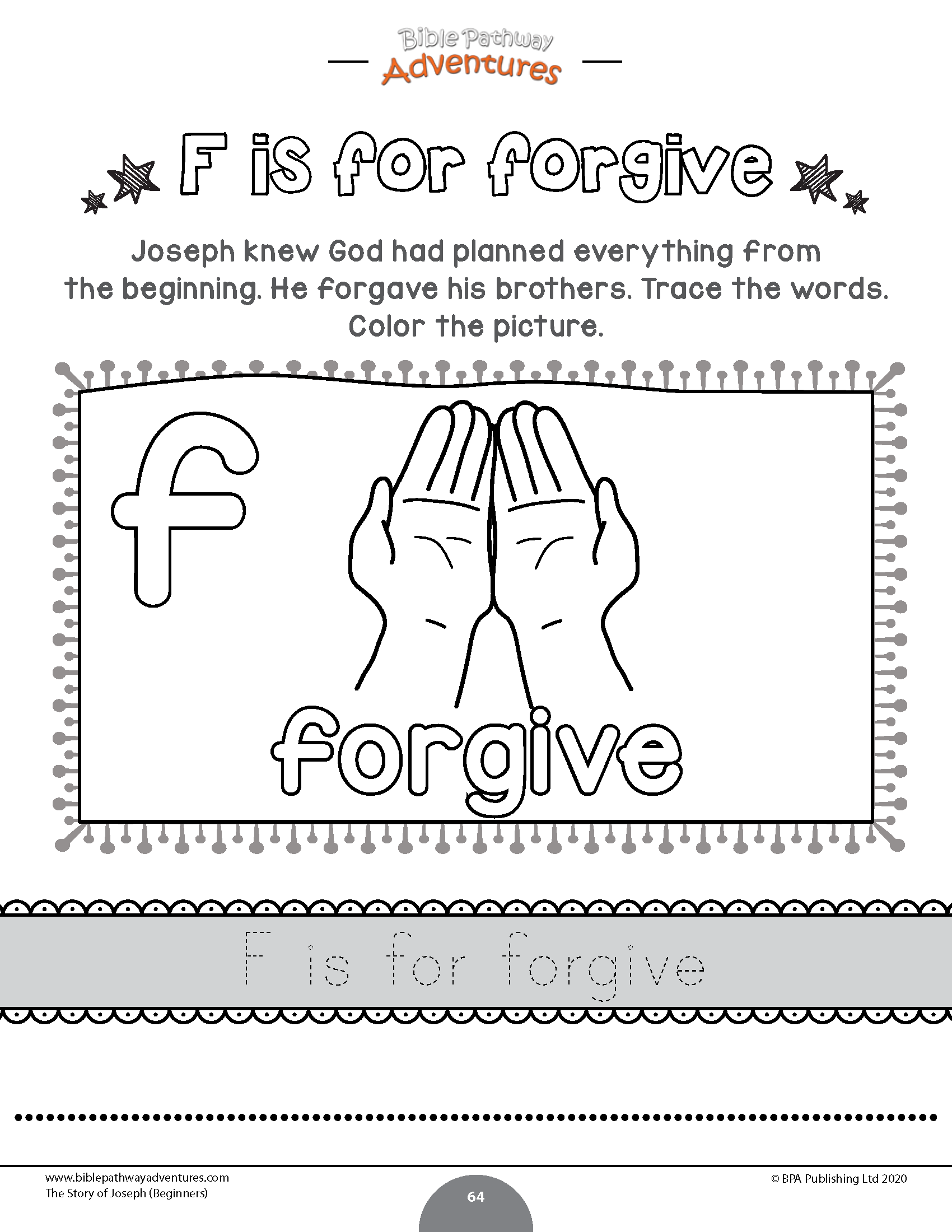The story of Joseph Activity Book: Beginners   Preschool bible lessons [ 2200 x 1700 Pixel ]