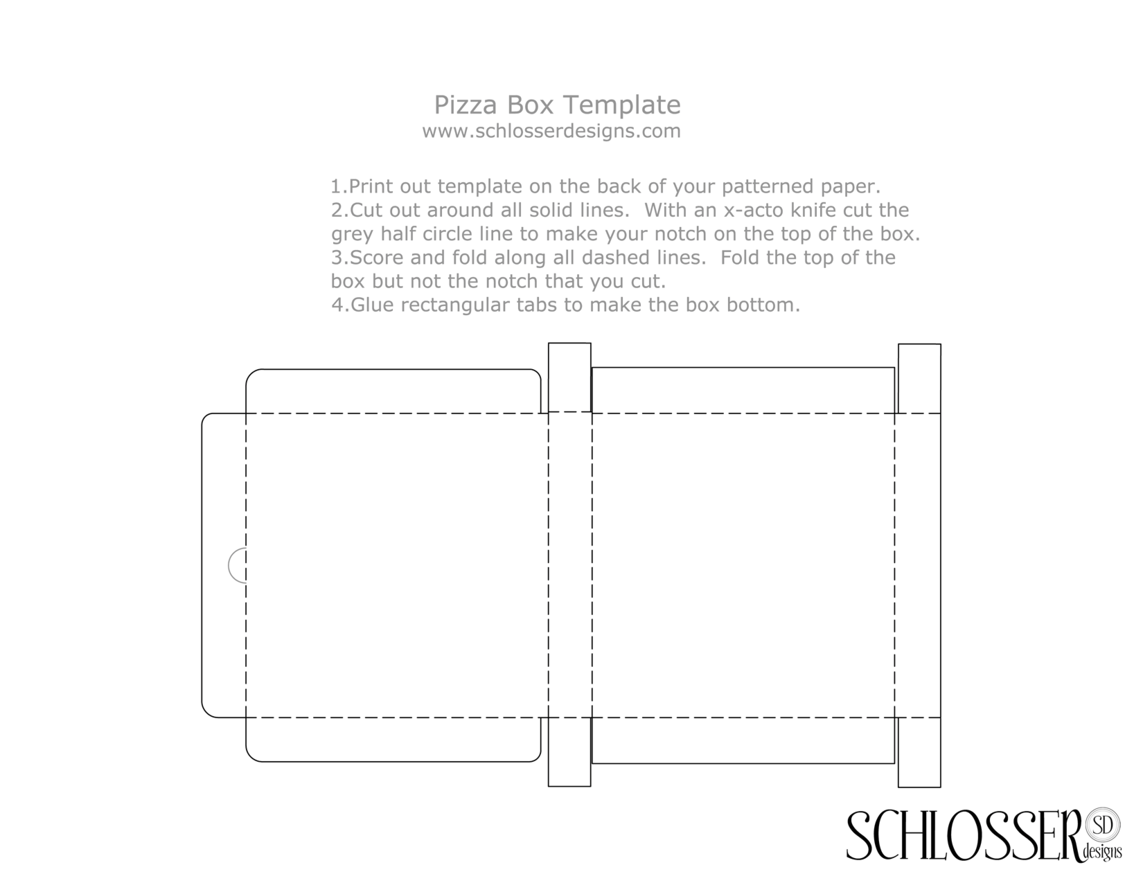 Mini pizza box templates £2. 50: instant | printable | pizza.