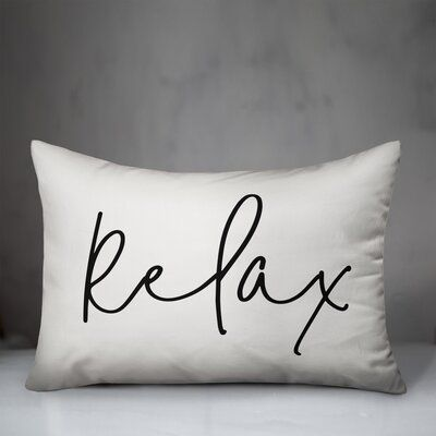 Andover Mills All of your guests will feel at home when greeted by this typography pillow. Great for on the front porch or inside your entryway. Designed and printed in the United States, this pillow is sure to add joy to your space. Color: Off White/Black