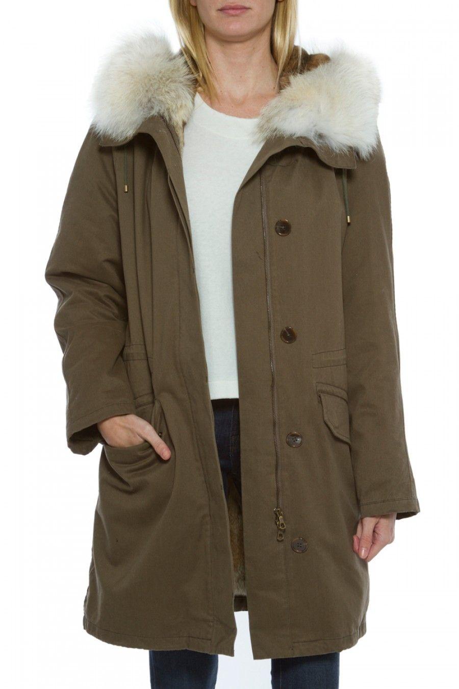 bf91601f67e4 ARMY BY YVES SALOMON Rabbit Fur Lined Parka.  armybyyvessalomon  cloth
