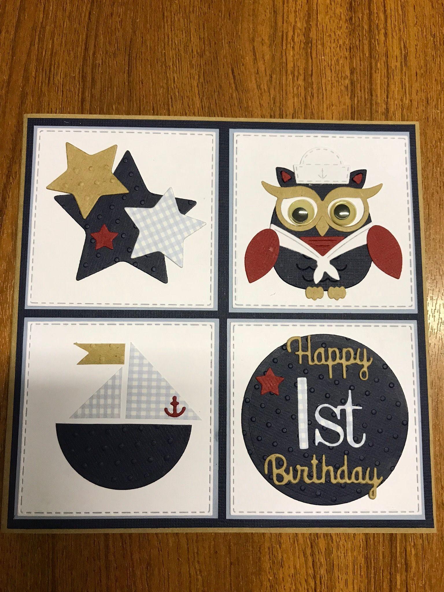 Finleys 1st birthday card march 2018 1st birthday