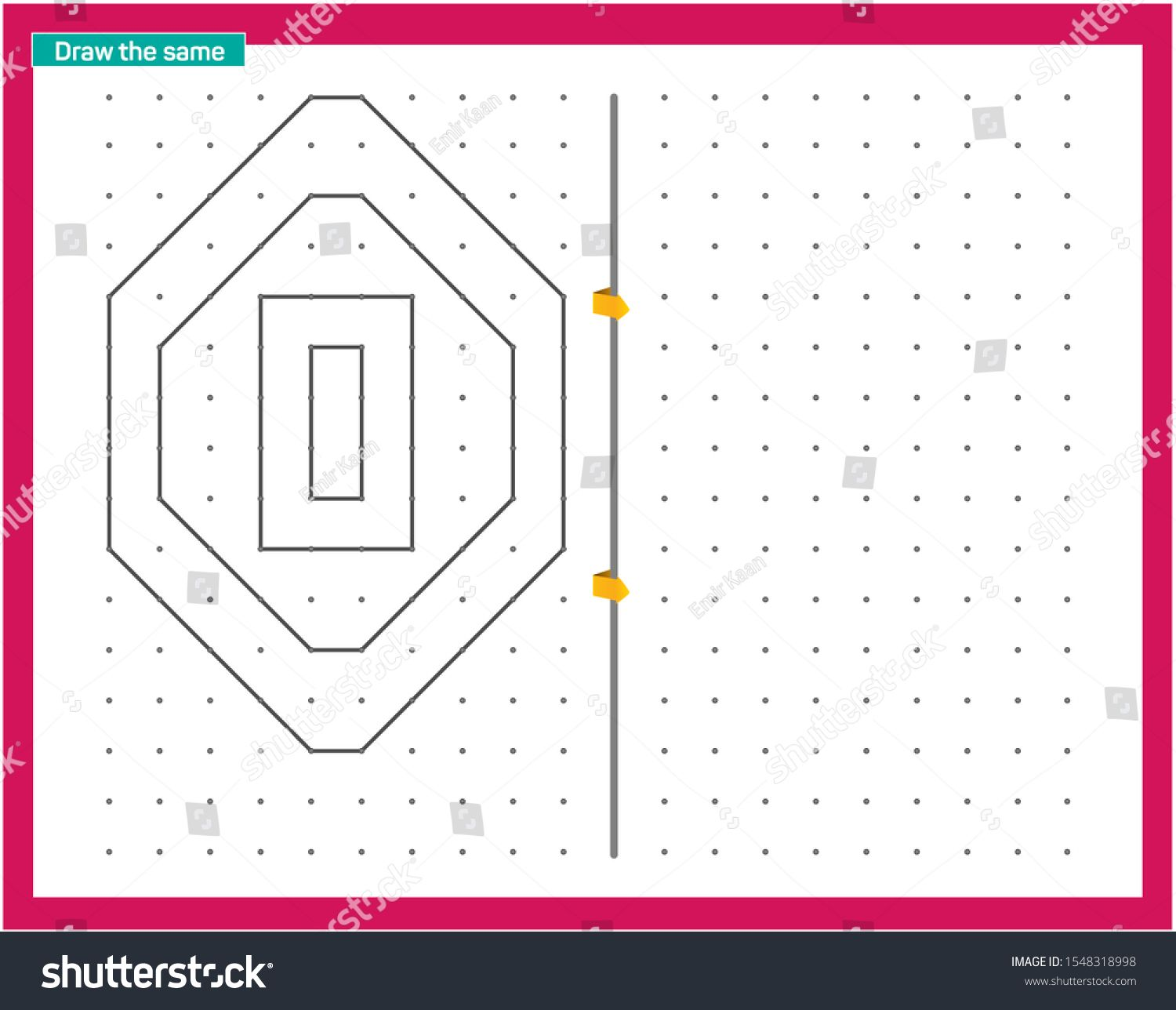 Point And Line Work Educational Children Game Printable