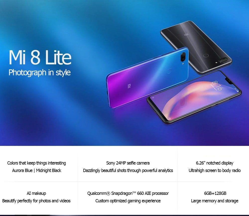 Xiaomi Mi 8 Lite 4g Phablet 128gb Rom Global Version Phablet Xiaomi Snapdragons