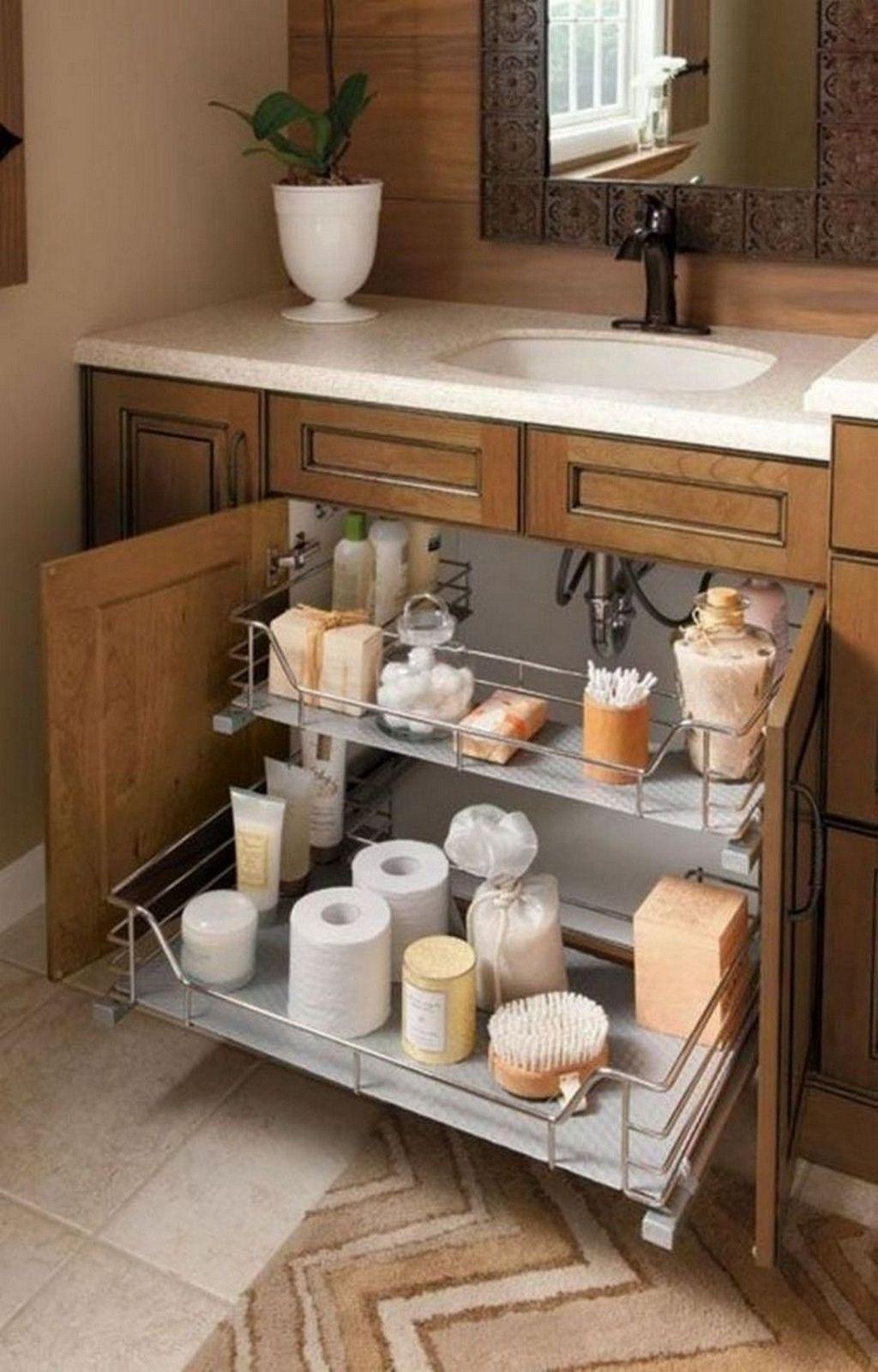 30 Inspiring Bathroom Storage Ideas To Enhance Your Bathroom Quality In 2020 Bathroom Storage Solutions Small Bathroom Storage Bathroom Storage Organization