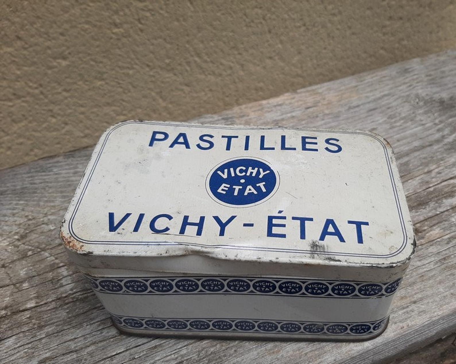 French Vintage Vichy Tin