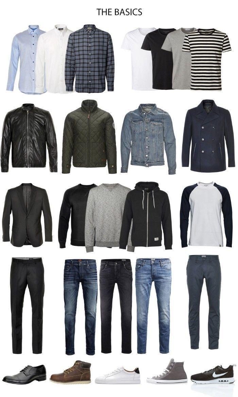 ▷ 1001 + Ideas for your Capsule Wardrobe - Creating a Minimalist Style men's wardrobe essentials