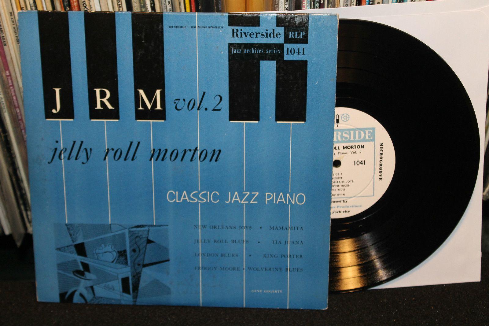 Jelly Roll Morton Classic Jazz Piano Volume 2 Original On Riverside Records 1954 10 Ep Vinyl Jelly Roll Morton Classic Jazz Jazz Piano