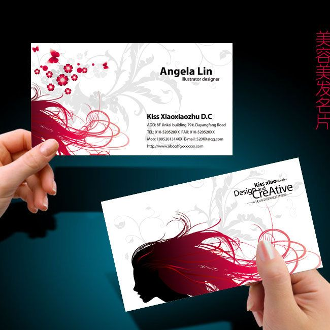 Hair Stylist Card Beauty Salon Business Psd Templates Http