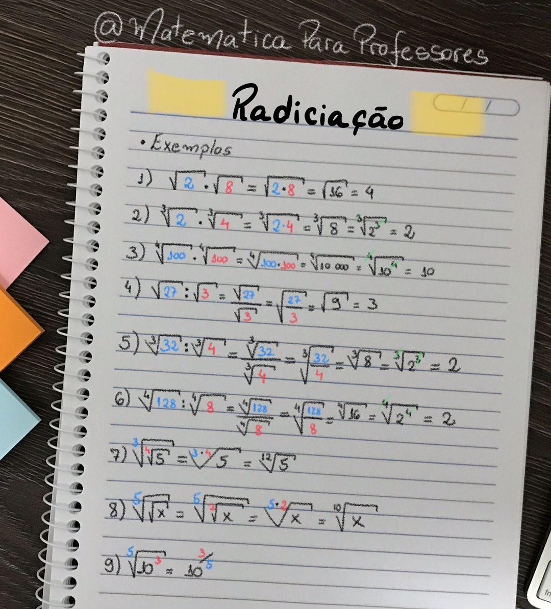 Instagram 上的 Matemática para Professores:「 ? ️?Resumo do dia!!! ? ️? ?Radiciação e propriedades ...