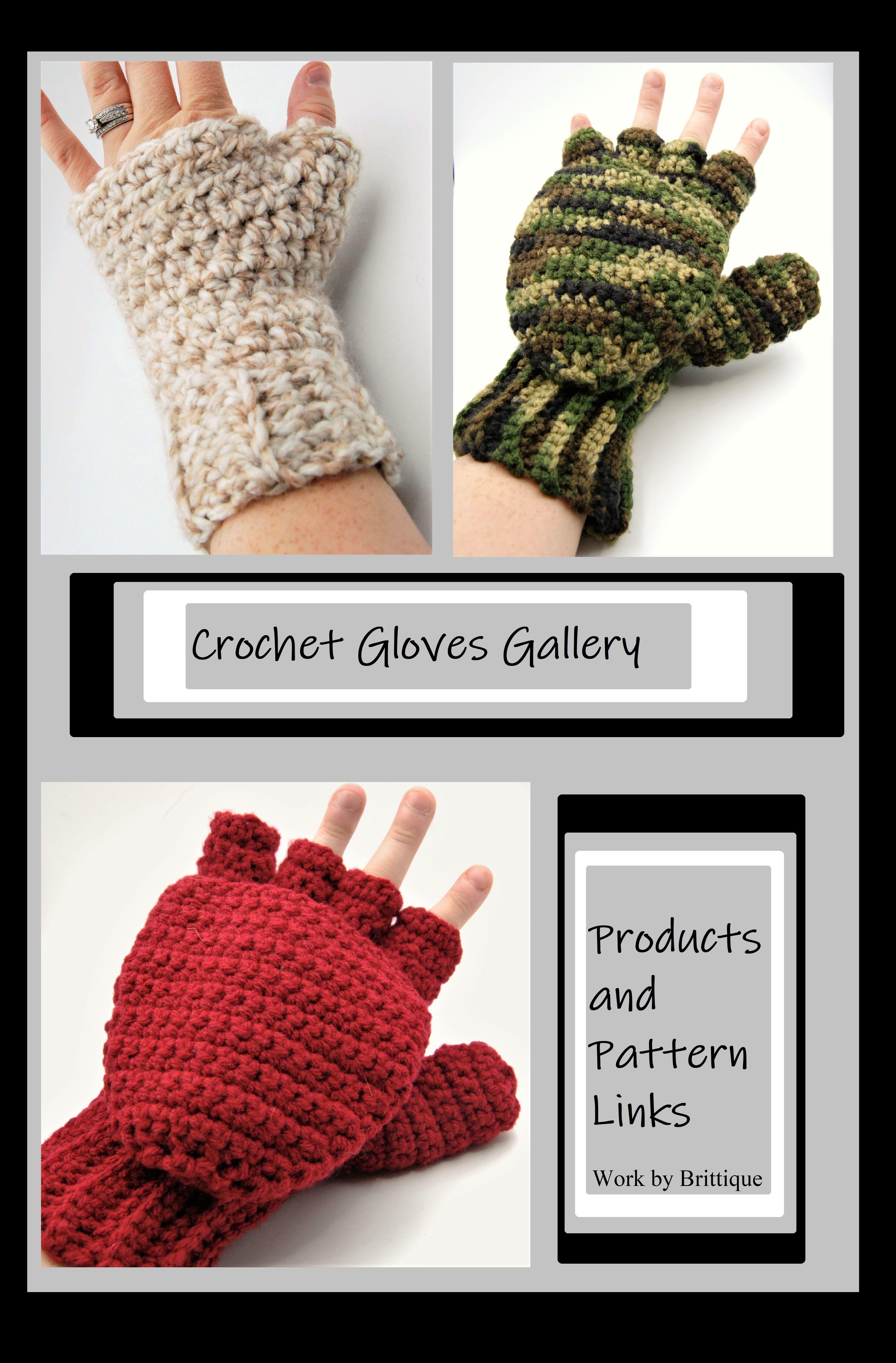 Crochet Gloves, fingerless gloves, crochet mittens, fingerless ...