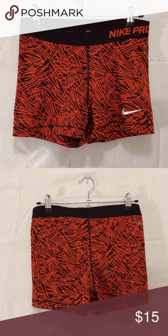 finest selection a4ea0 e253e Nike Pro Spandex Nike Pro Black and Red Design Spandex. Women s Medium. Nike  Shorts