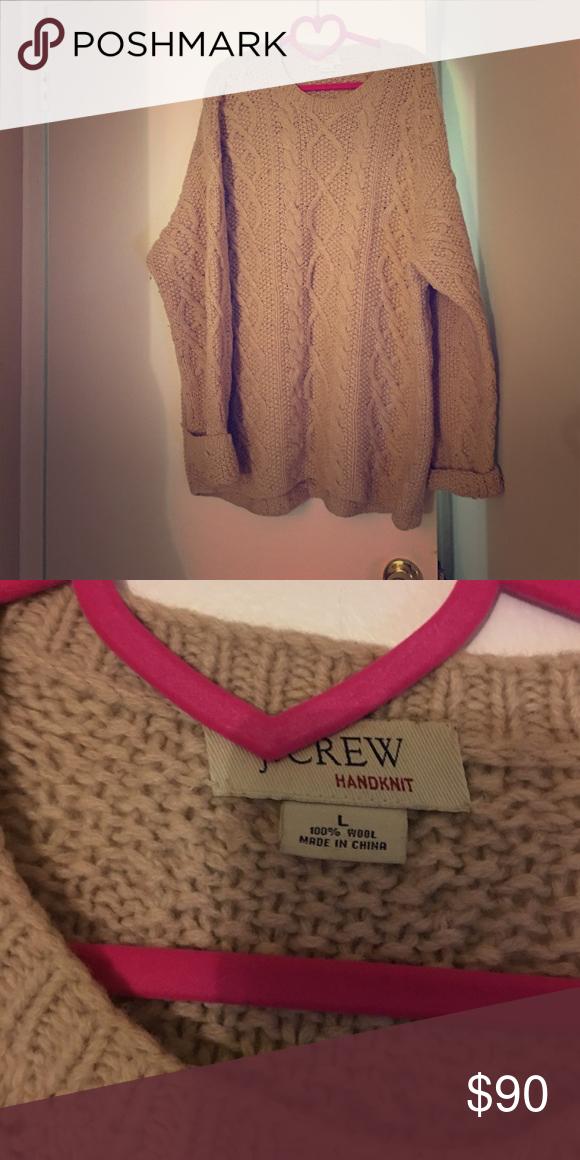 J. Crew Irish sweater Worn two times. Very big. Can be worn with leggings J. Crew Sweaters Crew & Scoop Necks