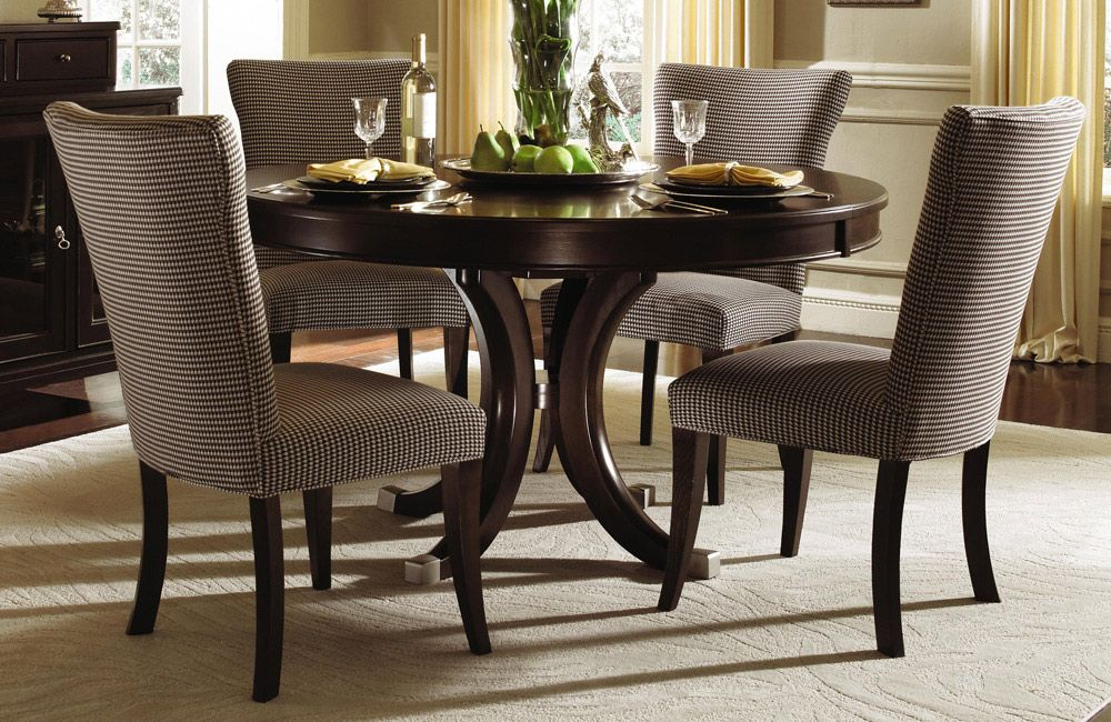 Alston Round Table Solid Wood Dining Set By Kincaid Furniture Very Classy Round Dining Room Sets Round Dining Room Dining Room Furniture Sets